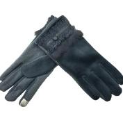 Winter Gloves Suede Touch Screen Plus Keep Warm Gloves , black ,