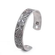 Health Care Magnetic Bracelet Viking Raven Cuff Bangle Irish Knotwork Birds Talisman Pagan Jewellery