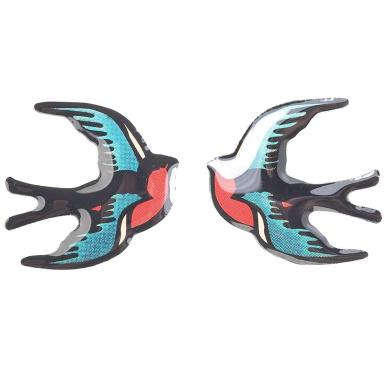 Tatty Devine swallow earrings (red)
