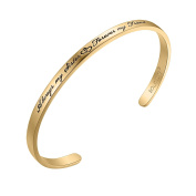 """SOLOCUTE Cuff Bangle Bracelet Engraved """"Always My Sister Forever My Friend"""" Inspirational Jewellery, Perfect Gift for Christmas Day, Thanksgiving Day and Birthday"""