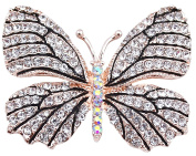 FENGJI Full Rhinestone Butterfly Retro Brooch Pin Lovely Wedding Pin for women