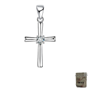 Original Cross Enez T097 A 3.0 cm Real Pendant 925 Silver with Gift Bag
