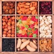 Glass trivet 18 x 18 cm - Dried fruit