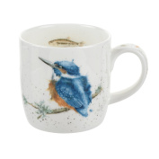 Wrendale Designs by Hannah Dale King of the River Mug, Bone China, Multi-Colour, 8.5 x 12 x 8 cm