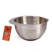 CAN_Deal 304 Stainless Steel Mixing Bowl with Measure, pour spout and handing design