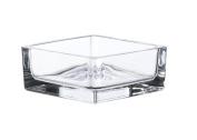 "Rectangular tealight glass TAMIO, transparent, 3.1"" x 3.1"" x 1.4""/8 x 8 x 3,5 cm - Dip tray / Glass tealight holder - INNA Glas"