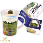 "CARMANI - Porcelain Coffee or Tea Mug with Monet ""Poppies"" 350 ml"