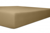 KNEER 2238388 Vario Stretch Topper Fitted for Box Spring Beds 200 cm, height 12 cm Toffee Squares