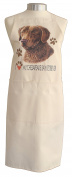 Chesapeake Bay Retriever (b) Breed of Dog Themed Natural Cream Cotton Bib Apron - Baker Cook Gift
