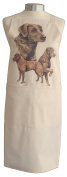 Chesapeake Bay Retriever Breed of Dog Themed Natural Cream Cotton Bib Apron - Baker Cook Gift