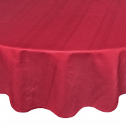 Coin Home 495765 Egyptian Round Tablecloth Jacquard Zefiro, 100% Cotton, Red, 180 x 180 x 0.5 cm