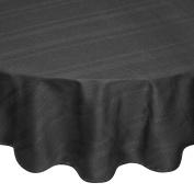 Coin Home 495767 Egyptian Round Tablecloth Jacquard Zefiro, 100% Cotton, Black, 180 x 180 x 0.5 cm