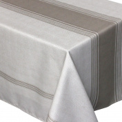 Bistro Rectangular Tablecloth 150 x 200 cm Printed 100% Polyester Taupe