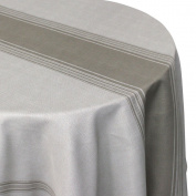 Bistro Printed Tablecloth Round 180 cm 100% Polyester Taupe
