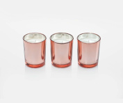Ritzenhoff 5090004 Aroma Naturals Glass Luxury Scented Candle (Set of 3, Black/Pink, 5 x 5 x 6 cm 3 Units
