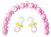 Baby Shower Balloon Kit Girl Party Decoration Pink 64 Balloons Latex Centrepiece