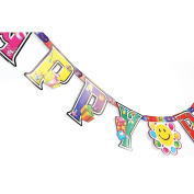Verlike Paper Happy Birthday Letters Banner Party Celebrate Hanging Decor size Present