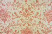 Floral Bouquet Sand Cotton Toile de Jouy Designer Material Sewing Upholstery Curtain Craft Fabric