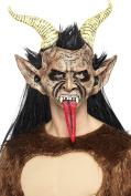 Smiffy's 47074 Beast/ Krampus Demon Mask, Brown, One Size