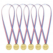 Pack of 24 Gold Medal Party Prizes,Toy Medals make fun prizes for a school sports day, sports party or mini Olympics event.