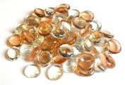 1 Kilo Decorative Peach Crystal Round Glass Pebbles 18-20mm …