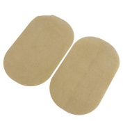 2Pcs Flocking Fabric Elbow Knee Patches Iron on Oval Shape 18 x 11 cm