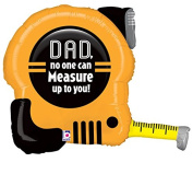 Betallic Dad No One Measures Up To You Tape Measure Shaped 80cm Foil Balloon