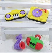 Happy Star® 4 x Novelty Kid Keyboard Musical Instrument Erasers Rubbers Stocking Fillers Party Bag Gift