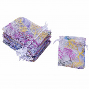 50 pcs Coralline Organza Jewellery Pouch Party Wedding Favour Gift Bags 10 x 15cm