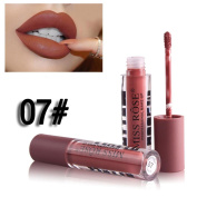 HKFV MISS ROSE High Class New Fashion Young Colour Design Cylindrical Lipstick Non-Stick Cup Lip Glosses Long Lasting Waterproof Lip Balm Sexy Charm Cosmetic Makeup Beauty Lip Makeup Tools
