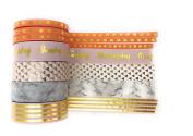Marble Modern Peach Gold Foil Washi Tape - 7 rolls each 10 metres - journaling, card making, scrapbooking