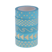 Demiawaking 5 Rolls Washi Masking Tape Collection Decorative Floral Washi Tapes for Scrapbook DIY Craft Gift