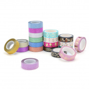 ARTISTORE Washi Masking Tape Set of 20 (1.5cm ¡Á 10m), Decorative Craft Tape Collection for DIY and Arts and Crafts, Scrapbook DIY, Home Decoration, Creative, Re-positional, Masking tape