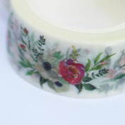 Bouquets of Flowers Decorative Washi Paper Tape - 8m x 20mm Craft