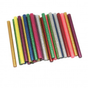 Wady Glitter Hot Melt Glue Adhesive Sticks 100x7mm for Heating Glue Gun Pack of 30