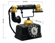 Elwow Best Gift Home Bookshelf Bedroom Bar Coffee House Office Boss Desk Vintage Retro Decoration Telephone Model Ornaments