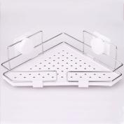 Pointth Bathroom Stainless Steel Corner Shelf Vacuum Suction Storage Shower Caddy Rack Holder Wall Shower Organiser