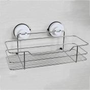 Pointth 304 Stainless Steel Antirust Waterproof Bathroom Shelves Wall hanging Bathroom Sucker Single Layer Rack