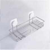 Pointth Stainless Steel Sucker Type Shelves Bathroom Shelve Shower Caddy Storage Bath Basket Rack