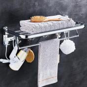 Rollsnownow Towel Rack Stainless Steel Bathroom Towel Bar Bathroom Accessories Folding Towel Rack
