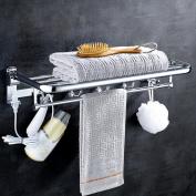 Rollsnownow Towel Rack Stainless Steel Large Folding Towel Rack Bathroom Accessories Hardware Pendant