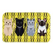 Non-slip Doormats Carpet Fuibo Printed Bathroom Kitchen Rugs Doormats Cat Carpet For Living Room Non-slip Mats