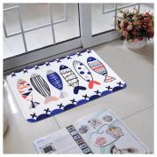 Non-slip Doormats Carpet Fuibo Printed Bathroom Kitchen Rugs Doormats Carpet For Living Room Non-slip Mats