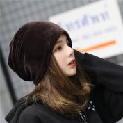 Mmrm Women's Soft Velvet Beanies Winter Autumn Korean Fashion Hats