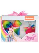 Jojo Bows - Jojo Siwa Rainbow Bow & Keyring Set - Large Signature Bow and Key Ring Gift Set