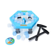 TSLIKANDO Puzzle Save Penguin Game, Balance Ice Cubes Save Penguin Icebreaker Beating Interactive Desktop Party Games for Child Kid