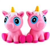 Creative Stress Reliever Squishy Squeeze Lovely Pink Unicorn Super Slow Rising Fun Soft Toy Charm Kid Gift Beauty Top