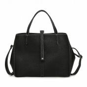 Fashion Shoulder Bag Fashion Shoulder Bag Stitch Trend Bag Messenger Bag , black