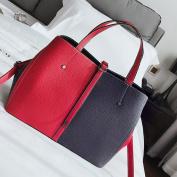 Fashion Shoulder Bag Fashion Shoulder Bag Stitch Trend Bag Messenger Bag , Red with blue
