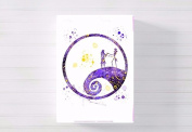 nightmare before christmas nursery a3 canvas picture nursery gift watercolour paint splatter ready to hang